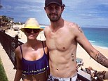 Vacation snap: Kaley Cuoco shared a snapshot of herself in a bikini top and denim shorts in Cabo Mexico, with husband Ryan Sweeting on Thursday