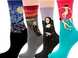 Put your best foot forward in a pair of 'Art Socks' - featuring famous paintings including Starry Night and Mona Lisa