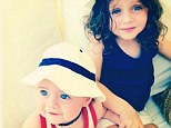Sweet holiday: Rachel Zoe shared a snap of her two children Skyler and Kaius on the 4th of July