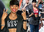 A tale of two crop tops: Jennifer Hudson shows off her svelte figure in not one, but two midriff-revealing outfits