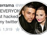 'Someone just hacked my Twitter!': Wilmer Valderrama proclaims his innocence after naked pictures and vile cartoon of Demi Lovato are posted on his account