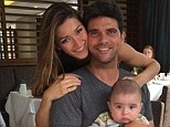Smile! Former tennis star Mark Philippoussis is enjoying his hand at fatherhood as he and wife Silvana enjoyed breakfast with their son Nicholas at a San Diego diner on Friday