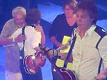 Paul McCartney helps man propose to his girlfriend on stage during first performance after falling ill in Asia
