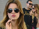 Khloe Kardashian, 30, and rapper French Montana, 29, arrive in New York City following another birthday bash, this time in Las Vegas