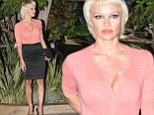 Sexy lady: Pamela Anderson put her curvaceous figure on display in a fitted ensemble as she attended a private party at Nobu in Malibu, California