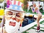 Party In The USA indeed! Miley Cyrus shows off her weird and wonderful homemade art and craft designs as she throws wacky 4th of July celebration