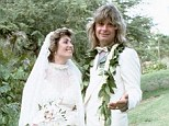 Happy anniversary: Sharon Osbourne marked 32 years of marriage with husband Ozzy on Friday by posting a wedding picture on Instagram
