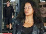 Jet-setting: Zac Efron and Michelle Rodriguez, who have been enjoying an Italian getaway together, were seen flying into Sardinia Airport via a private jet on Thursday