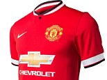 Fresh start: United have a new manager and now a new shirt too, with their new sponsors logo