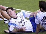 Laid back: The Barcelona forward is key to Argentina's chances of lifting the World Cup