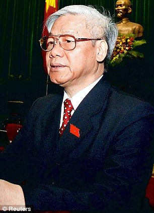 Vietnam's Communist Party General Secretary and National Assembly Chairman Nguyen Phu Trong
