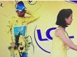 Pucker up: Vincenzo Nibali is rejected as he leans in for a kiss