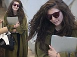 Still poorly? Lorde steps out looking pale as she thanks fans for their understanding after she was forced to leave the stage in Perth due to illness
