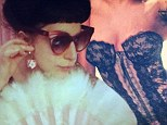 'It's so hot in here': Lady Gaga plays the tease as she strips down to a black lace bustier in racy Instagram snap