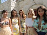 Let's do this: The Saturdays get ready to film the video for new single What Are You Waiting for at the First Choice Holiday Village in Rhodes, Greece