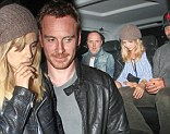 The Famous Five: Bradley Cooper, Suki Waterhouse, Lars Ulrich, Jessica Miller and Michael Fassbender arrive for night out at Chiltern Firehouse