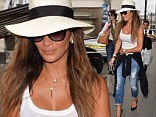 Style jeanius: Nicole Scherzinger steps out in cropped jeans and wide brimmed hat for lunch in London