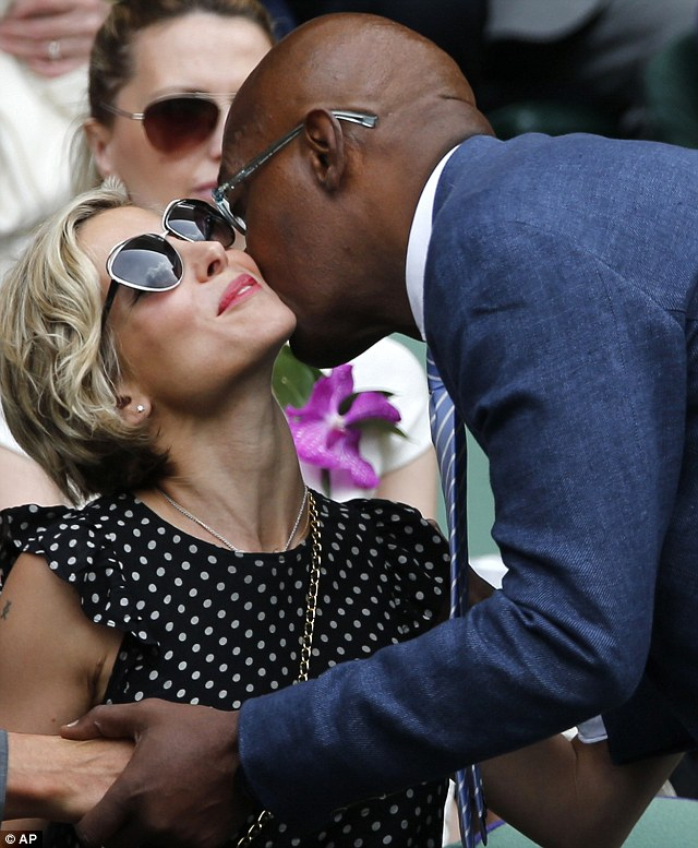 Social butterfly: Samuel L. Jackson was seen saying hello to Elsa Pataky as he took his seat in the Royal Box