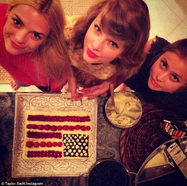 America's birthday! The baking enthusiast proudly shared a snap of a patriotic confection - made famous by Barefoot Contessa Ina Garten - which she whipped up with King and Aussie Amanda Griffith