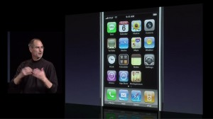 Steve Jobs introduces the iPhone App Store