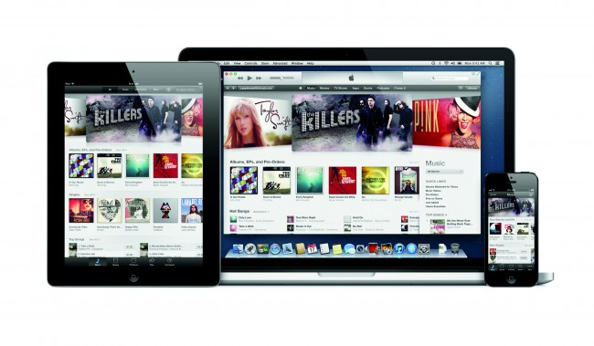 iTunes on iPad and iPhone
