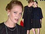 What Beautiful Girls! Uma Thurman grins as he attends fashion event in Paris with pretty daughter Maya Hawke