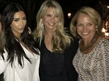 Ending their feud? Kim Kardashian enjoys a night out with 'fake friend' Katie Couric... then perfects her pout with Christie Brinkley