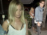 Ashley Tisdale is joined by the cast of her upcoming show as she celebrates her 29th birthday with fiancé Christopher French