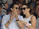 Catching up: Orlando Bloom and Kate Beckinsale were seen on Centre Court to watch the men's singles final between Roger Federer and Novak Djokovic in the 2014 Wimbledon Tennis Championship on Sunday