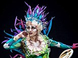 Impressive headgear: As well as amazing body paint, the talent had also created their own headwear