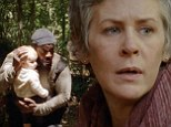 Heading for Terminus: Carol and Tyreese carry Baby Judith away from herd of walkers in first glimpse of The Walking Dead's fifth season