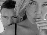 Cheers! Lara posts a photo of herself and actor beau Sam Worthington sipping a cocktail in her bikini on Monday prompting fans to ask about her latest whereabouts