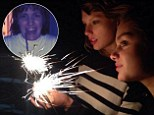 Gal pals Taylor Swift and Jaime King play with sparklers as they are joined by friends and family including Lena Dunham