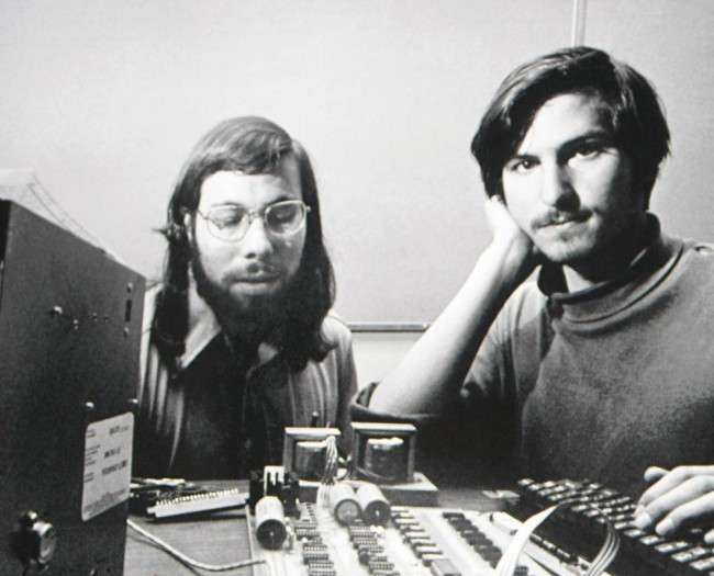 Steve Jobs and Steve Wozniak at Apple building Insanely Great things.