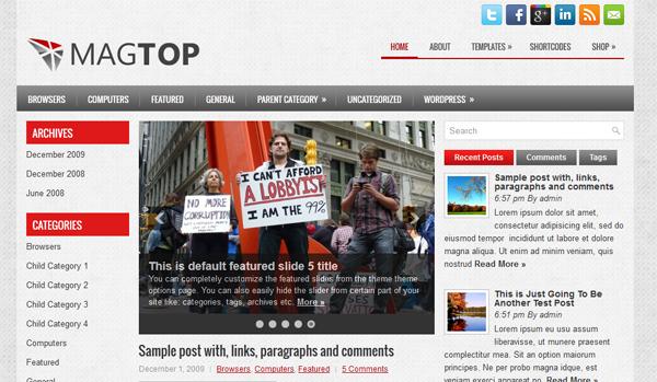 MagTop free wordpress theme