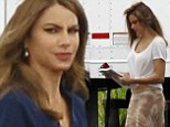 Sofia Vergara parades her pins in wrap dress on the New Orleans set of Don't Mess with Texas