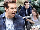 Comedian Jason Sudeikis, 38, was involved in an emotional argument with his Sleeping With Other People co-star Alison Brie, 31, on Tuesday while filming a scene for their movie in Central Park