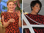 Keeping up with Kris Jenner! Cameron Diaz sizzles in heart print dress on talk show with Jason Segel... a week after it was worn by Kardashian matriarch