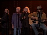 Jimmy Fallon covers Iggy Azalea's Fancy while impersonating Neil Young... alongside special guests Crosby, Stills and Nash