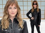 Dakota Johnson cuts an eye-catching figure in head-to-toe leather at Chanel show in Paris