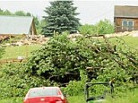 Three fatalities have been confirmed in Madison County, upstate New York, when a home collapsed after fierce winds uprooted or snapped several trees