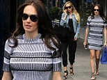 Ladies who lunch: Sisters Tamara and Petra Ecclestone step out in style as they grab an afternoon bite together in London