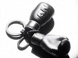 Coming soon: A first glimpse of Alexander Wang's upcoming collection for H&M revealed a set of mini boxing gloves on a key fob