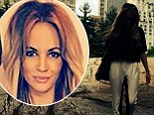 Taking a bite out of the Big Apple: Samantha Jade turns tourist as she strolls in New York's Central Park one month after her mother's tragic death