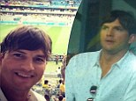 Ashton Kutcher shows support for Brazil as he flies in to watch World Cup semi-final... but watches home team lose a staggering 7-1 to Germany
