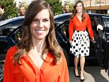 BERLIN, GERMANY - JULY 10:  Actress Hilary Swank attends the Marc Cain show during the Mercedes-Benz Fashion Week Spring/Summer 2015 at Erika Hess Eisstadion on July 10, 2014 in Berlin, Germany.  (Photo by Andreas Rentz/Getty Images for Marc Cain)