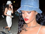 Nothing to be sniffed at! Rihanna's nose shines bright like a diamond as she shows off new septum piercing in New York City