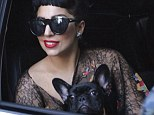 Lady Gaga is seen leaving the Four Seasons Hotel in Toronto in an SUV.