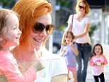 It beats American Pie! Alyson Hannigan treats her girls to ice cream during outing in Los Angeles