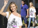 'I'm not perfect': Joanna Krupa makes a statement with provocative T-shirt as she goes shopping with husband in Los Angeles